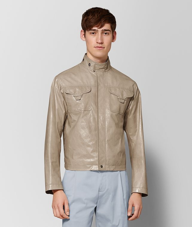 BOTTEGA VENETA LIMESTONE CALF JACKET Outerwear and Jacket Man fp