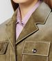 BOTTEGA VENETA BRONZE SUEDE JACKET Outerwear and Jacket Woman ap