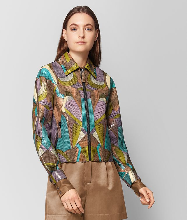 BOTTEGA VENETA MULTICOLOR AYERS PATCHWORK JACKET Outerwear and Jacket Woman fp
