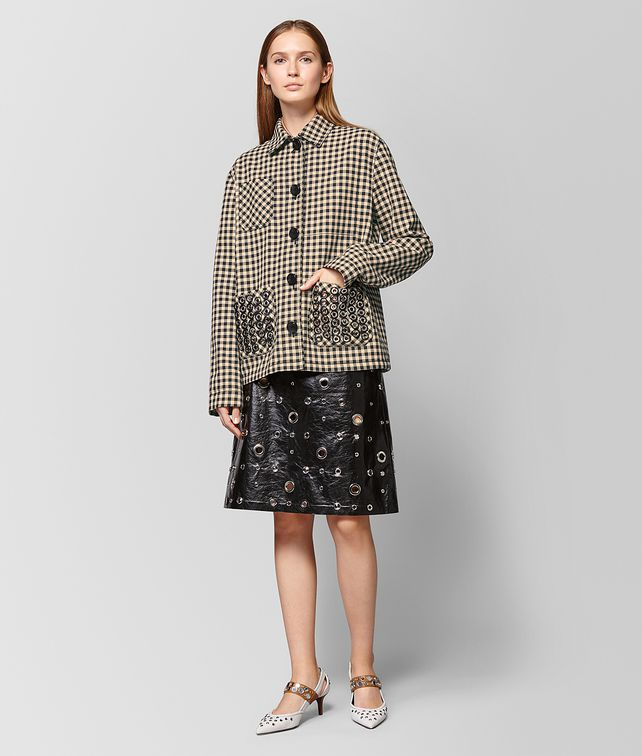 BOTTEGA VENETA GIACCA IN COTONE PAILLE NERO Outerwear e giacca Donna fp
