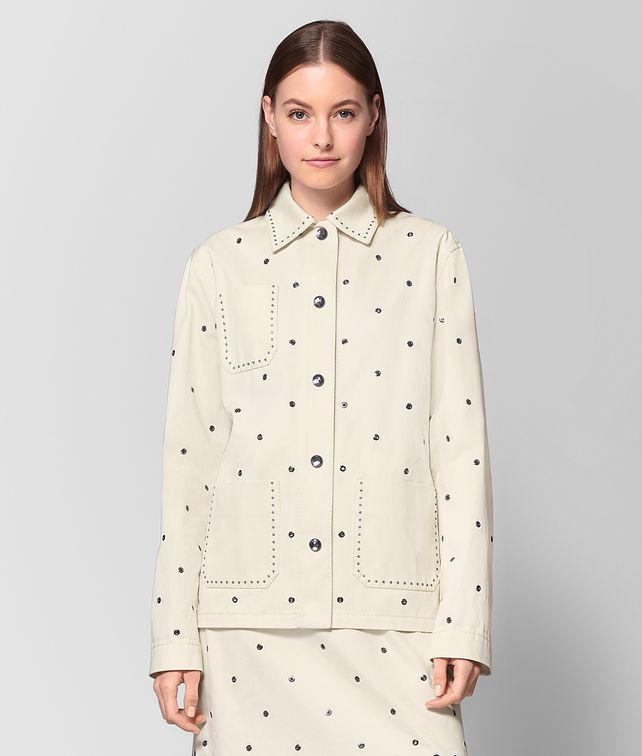 BOTTEGA VENETA LATTE COTTON JACKET Outerwear and Jacket Woman fp
