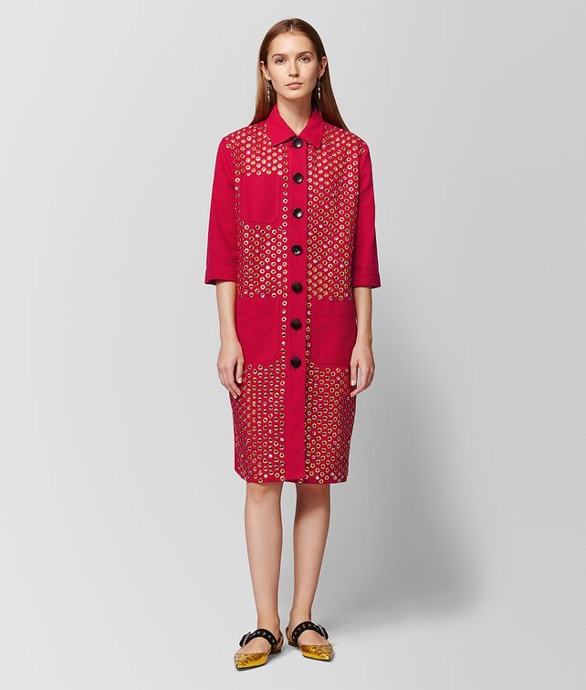 BOTTEGA VENETA CHINA RED COTTON COAT Outerwear and Jacket Woman fp