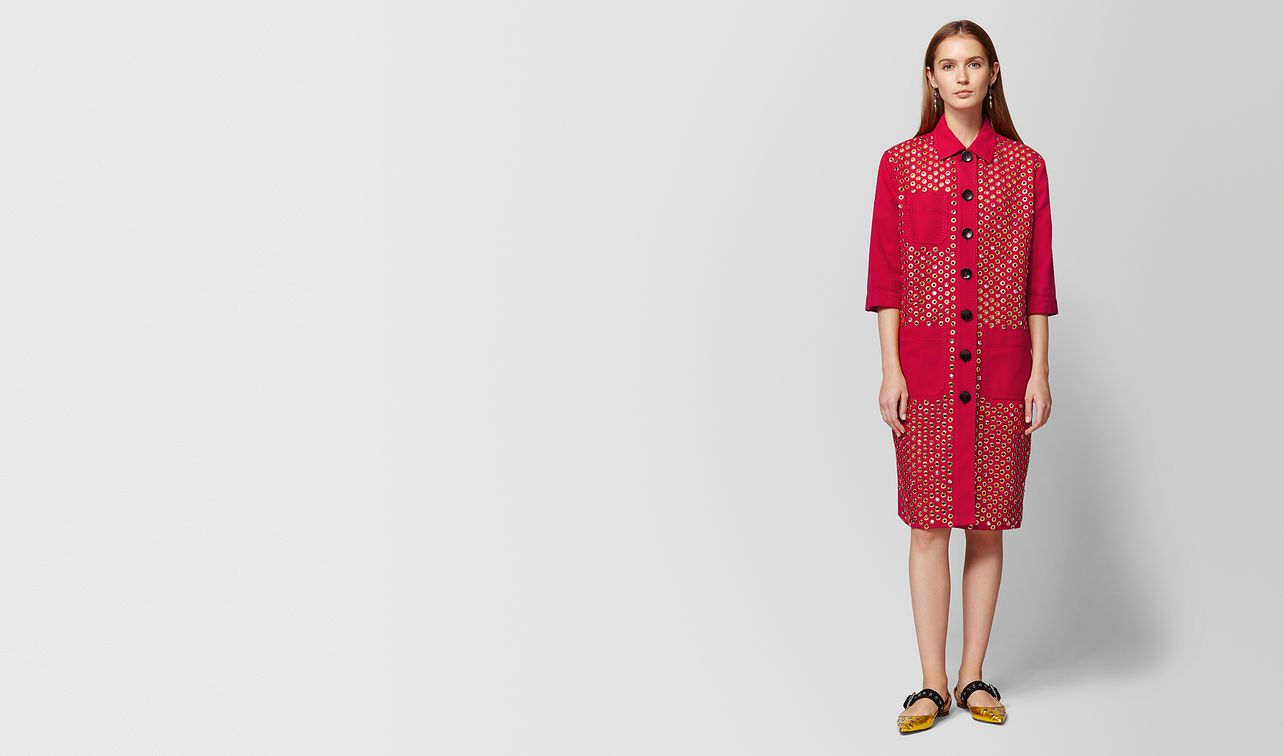 china red cotton coat landing