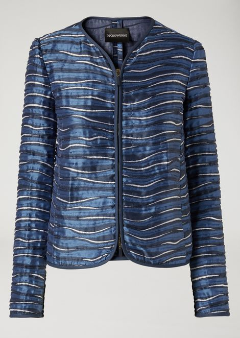 Jacket in wave fabric