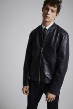 DSQUARED2 Leather Sportsjacket Leather outerwear Man