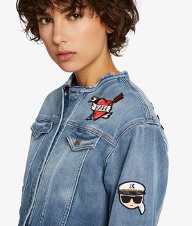 KARL LAGERFELD CAPTAIN KARL PATCH DENIM JACKET