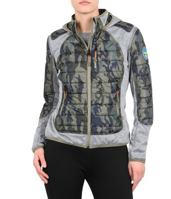 NAPAPIJRI AROY PACKABLE 2IN1 WOMAN SHORT JACKET,MILITARY GREEN