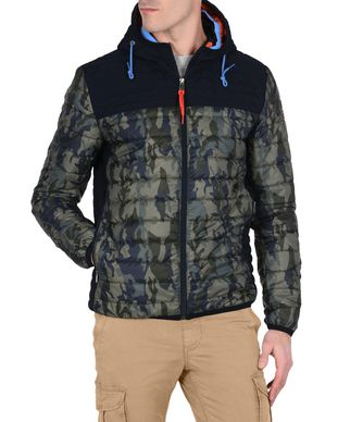 NAPAPIJRI ALBURY CAMO  MAN PADDED JACKET,MILITARY GREEN