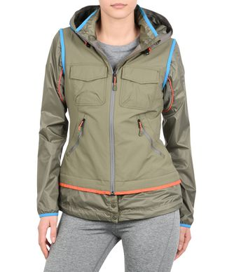 NAPAPIJRI APPLEN 2IN1 WOMAN SHORT JACKET,MILITARY GREEN