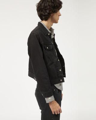 ISABEL MARANT JACKET Man JANGO embroidered denim jacket r