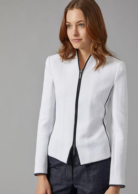 Jacquard fabric jacket