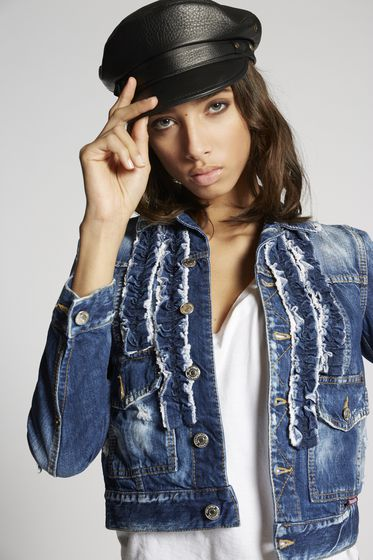 DSQUARED2 Denim outerwear Woman S72AM0644S30564900 m