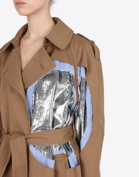 MAISON MARGIELA Oversized cut-out trench coat  Raincoat Woman a