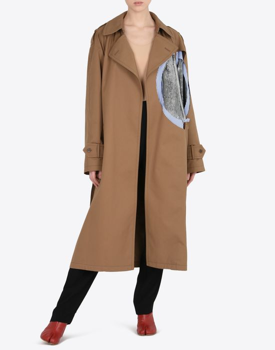 MAISON MARGIELA Oversized cut-out trench coat  Raincoat [*** pickupInStoreShipping_info ***] d