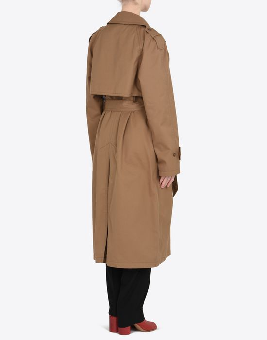MAISON MARGIELA Oversized cut-out trench coat  Raincoat Woman e