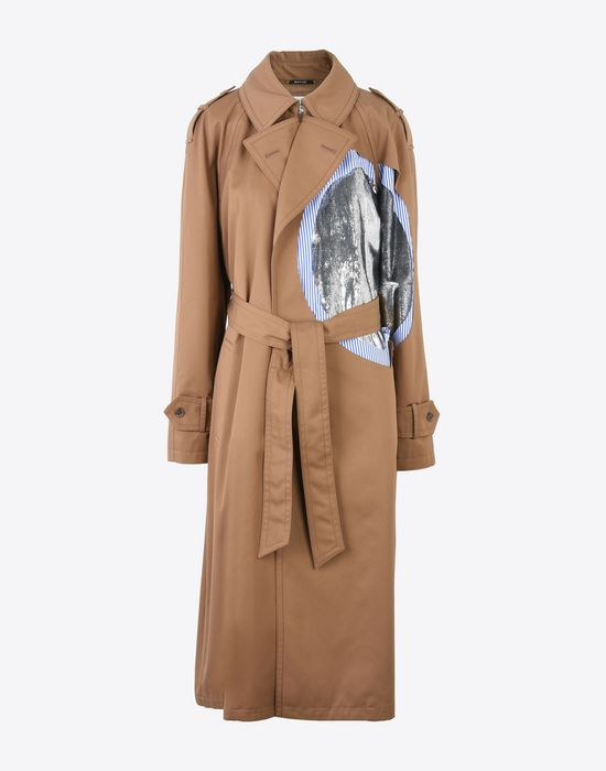 MAISON MARGIELA Oversized cut-out trench coat  Raincoat Woman f