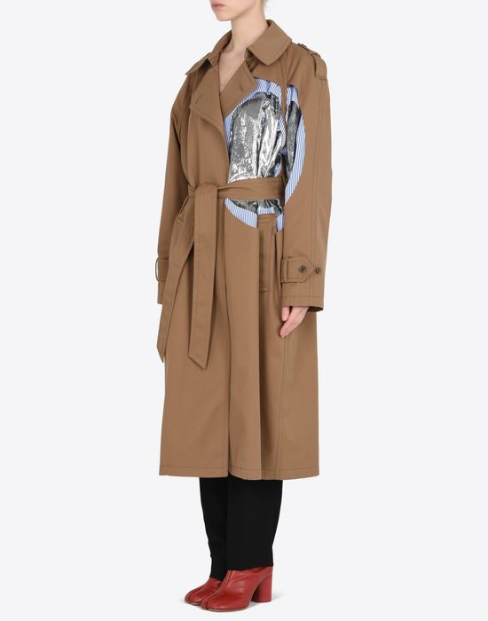 MAISON MARGIELA Oversized cut-out trench coat  Raincoat Woman r