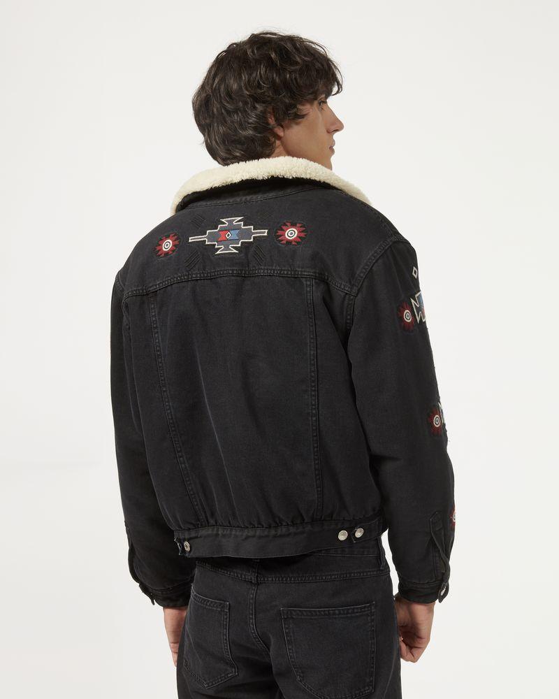 JARED denim and fur jacket  ISABEL MARANT