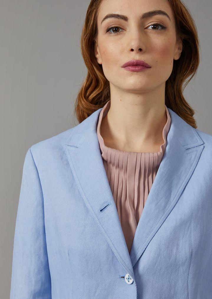 GIORGIO ARMANI Single-breasted linen blend jacket Jacket Woman a