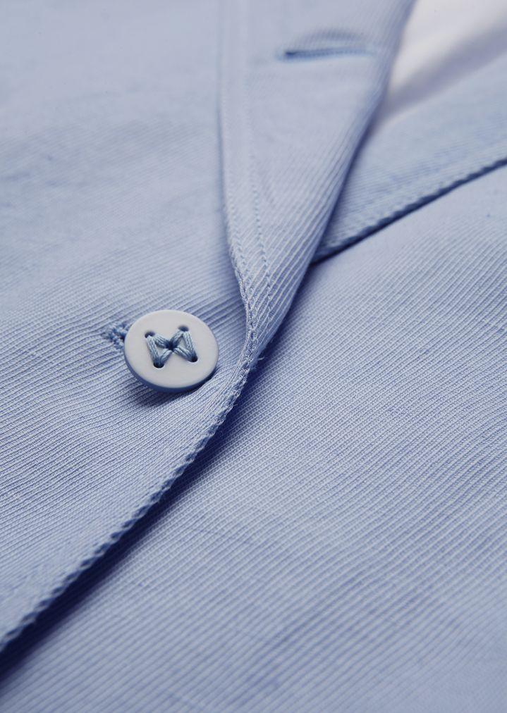 GIORGIO ARMANI Single-breasted linen blend jacket Jacket Woman c