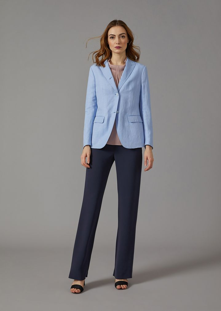 GIORGIO ARMANI Single-breasted linen blend jacket Jacket Woman d