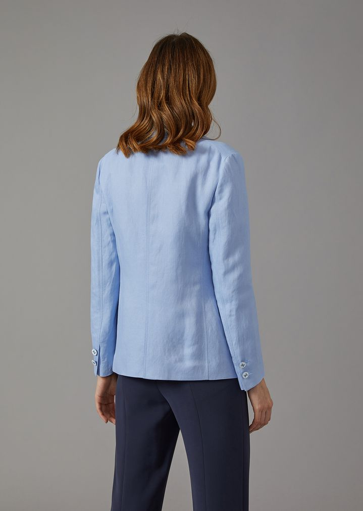 GIORGIO ARMANI Single-breasted linen blend jacket Jacket Woman e