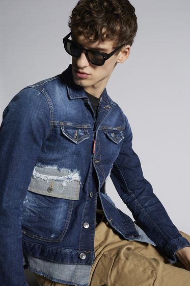 DSQUARED2 Denim outerwear Man S74AM0786S30309470 m