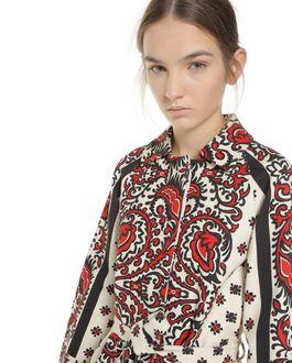 REDValentino Bandana-print armure cotton coat