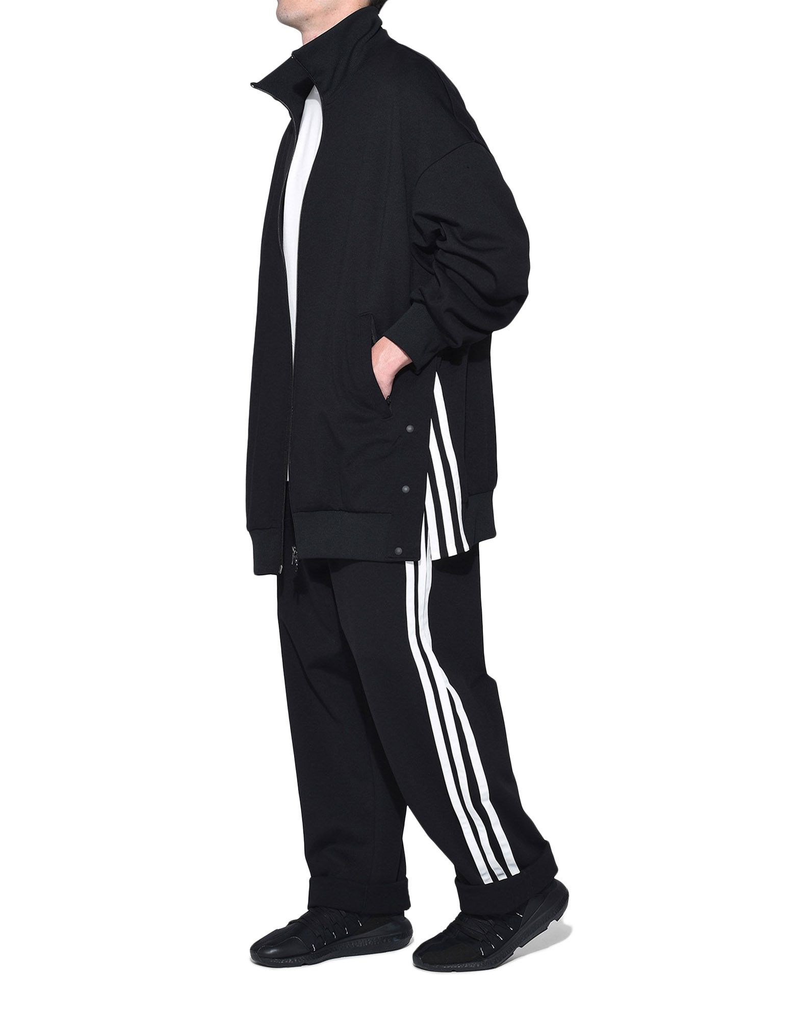 Y-3 Y-3 3-Stripes Matte Snap Track Jacket Track top Man a