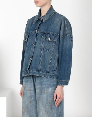 MM6 MAISON MARGIELA Cocoon-shape denim jacket Blazer D f
