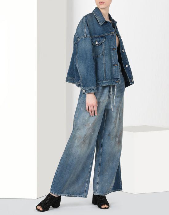 MM6 MAISON MARGIELA Cocoon-shape denim jacket Blazer [*** pickupInStoreShipping_info ***] r
