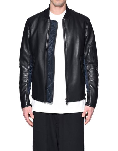 Y-3 Leather jacket Man Y-3 Bonded Leather Jacket r