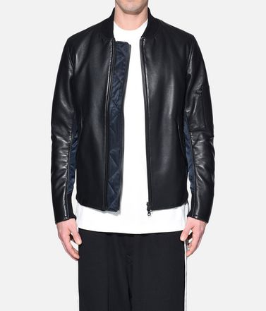 Y-3 Lederjacke Herren Y-3 Bonded Leather Jacket r
