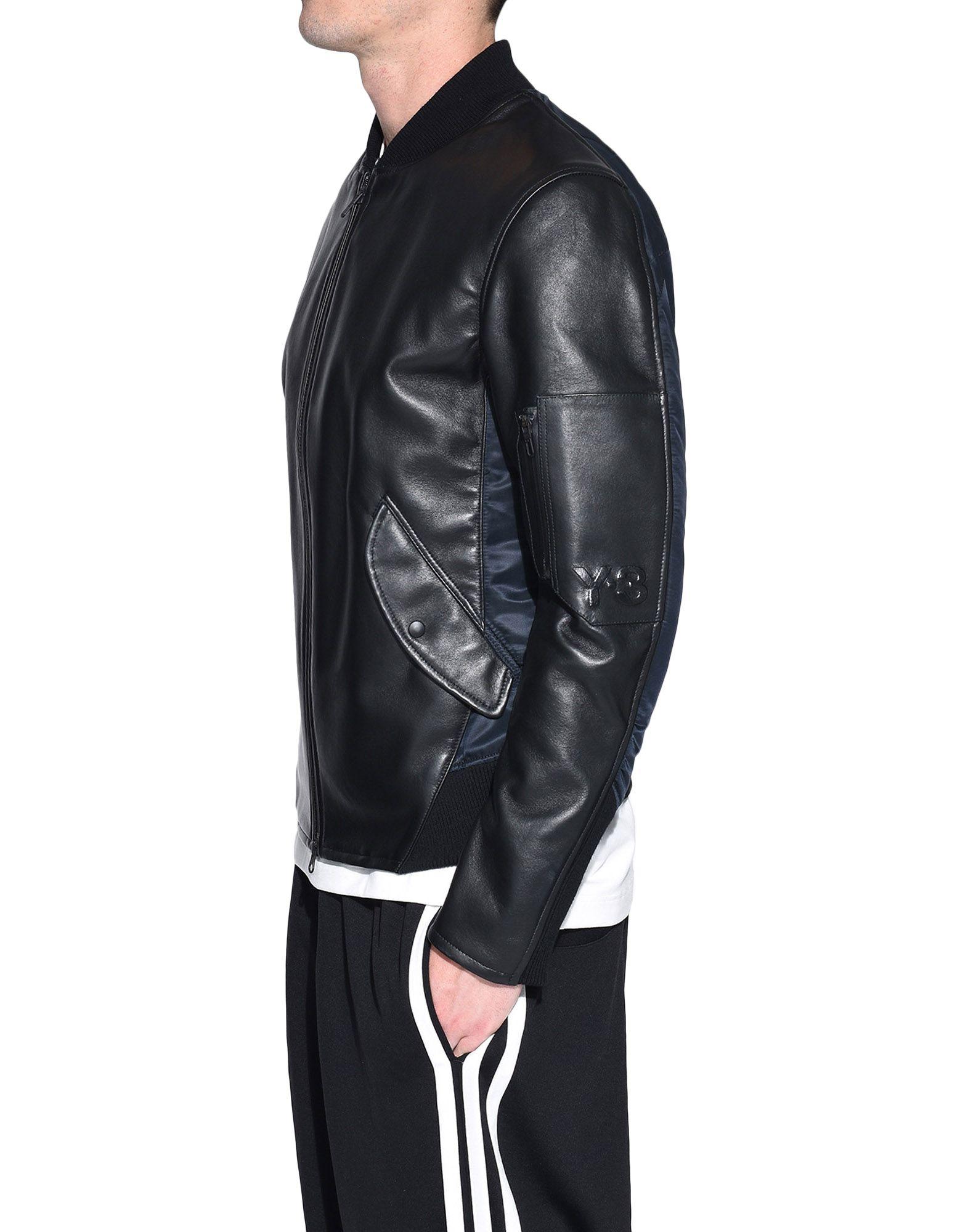 Y-3 Y-3 Bonded Leather Jacket Leather jacket Man e