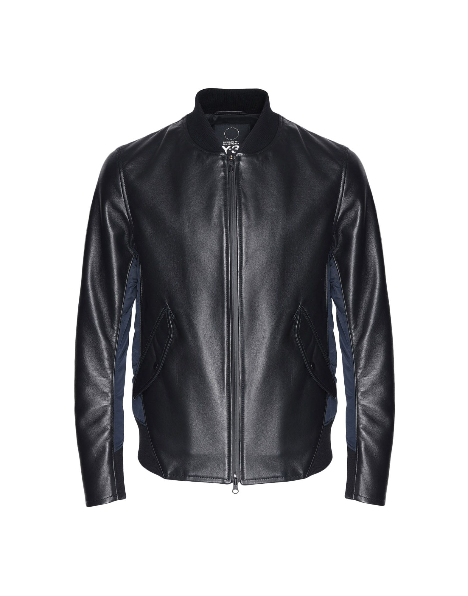 Y-3 Y-3 Bonded Leather Jacket Leather jacket Man f