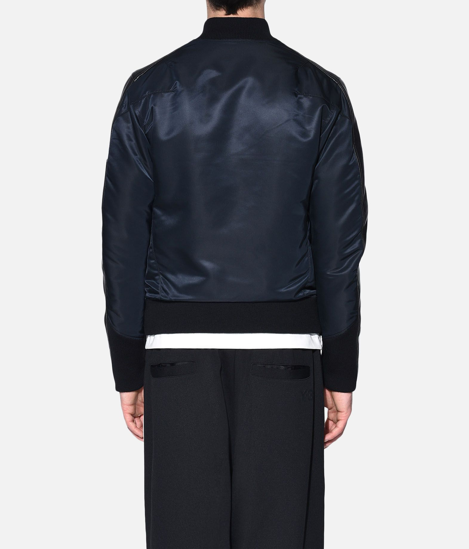 Y-3 Y-3 Bonded Leather Jacket Leather jacket Man d