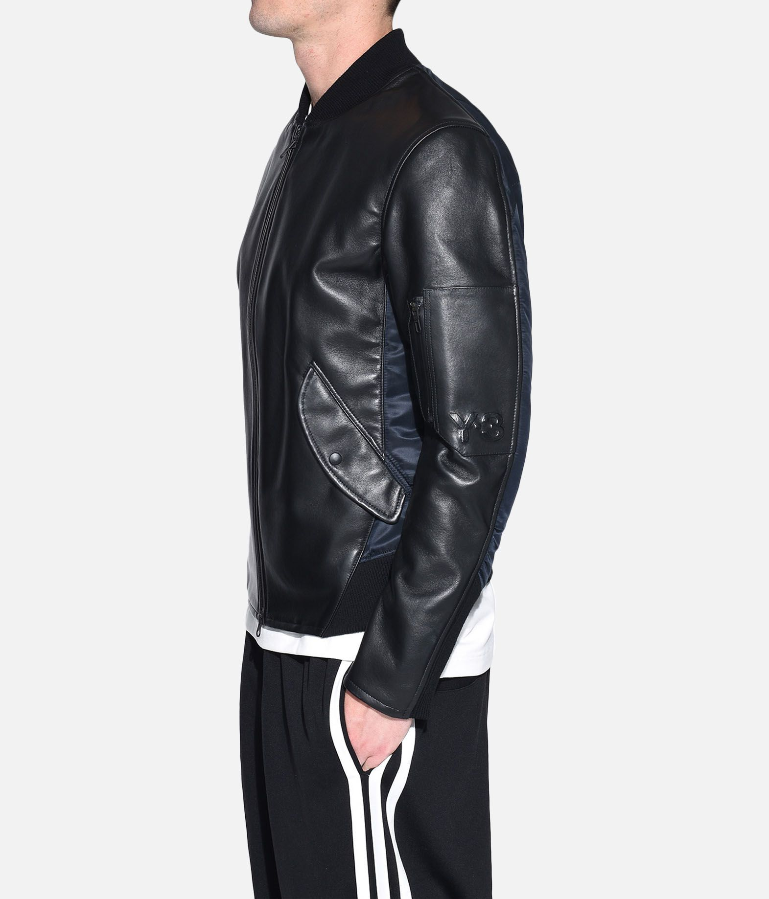 Y-3 Y-3 Bonded Leather Jacket Leather jacket Man e