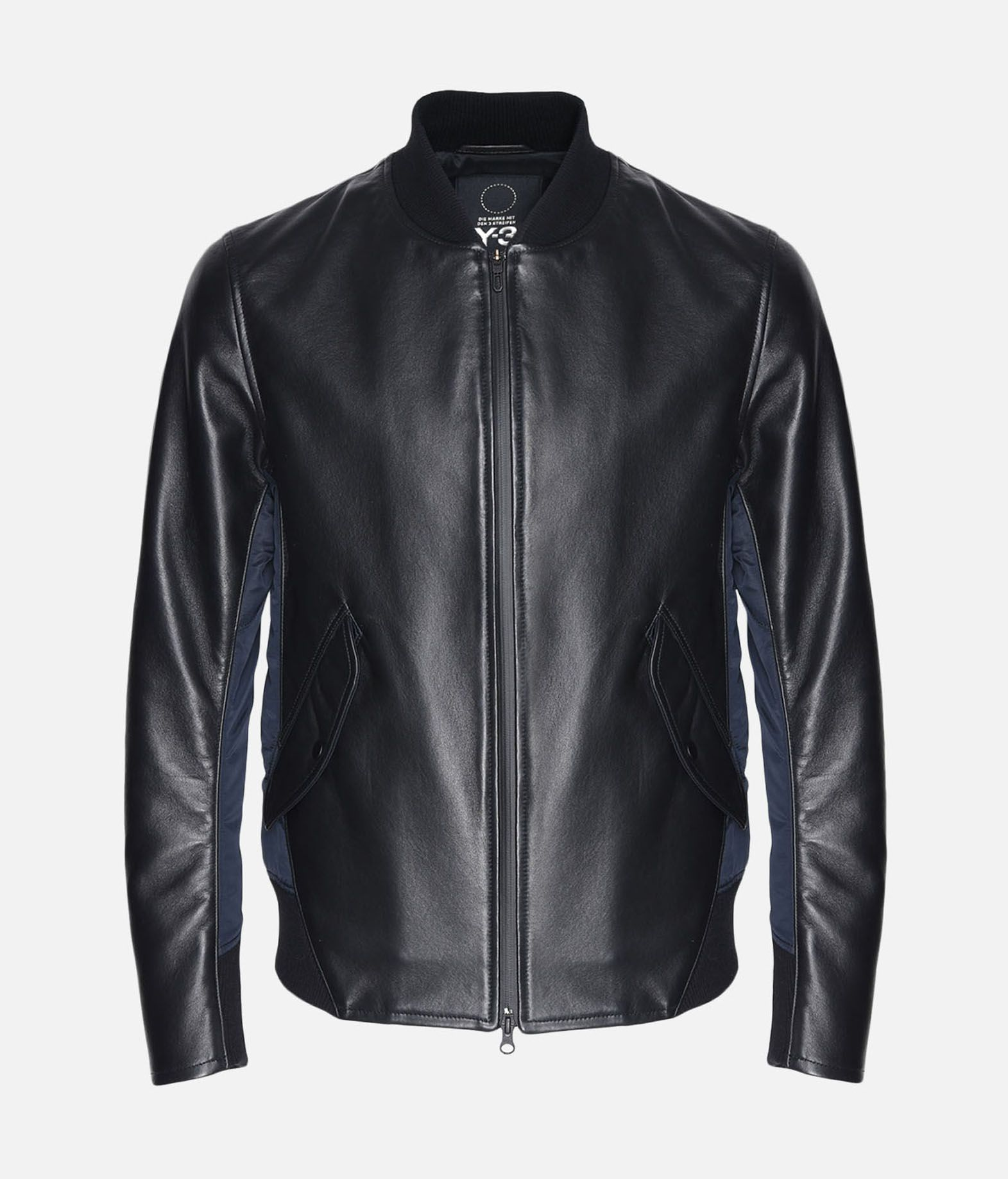 c2a6684ba239 ... Y-3 Y-3 Bonded Leather Jacket Leather jacket Man f ...