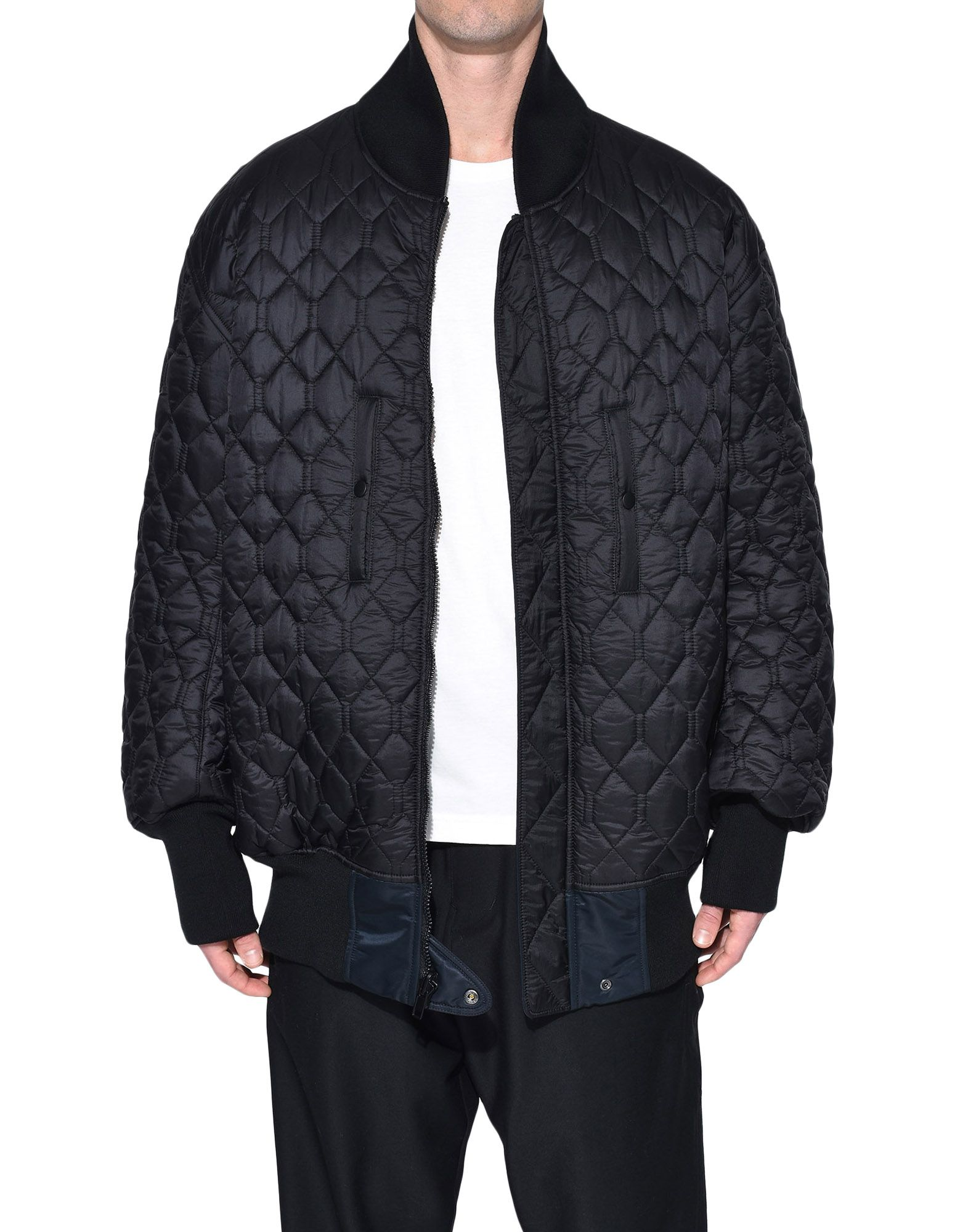 Y-3 Y-3 Oversize Reversible Bomber Jacket Mid-length jacket Man r