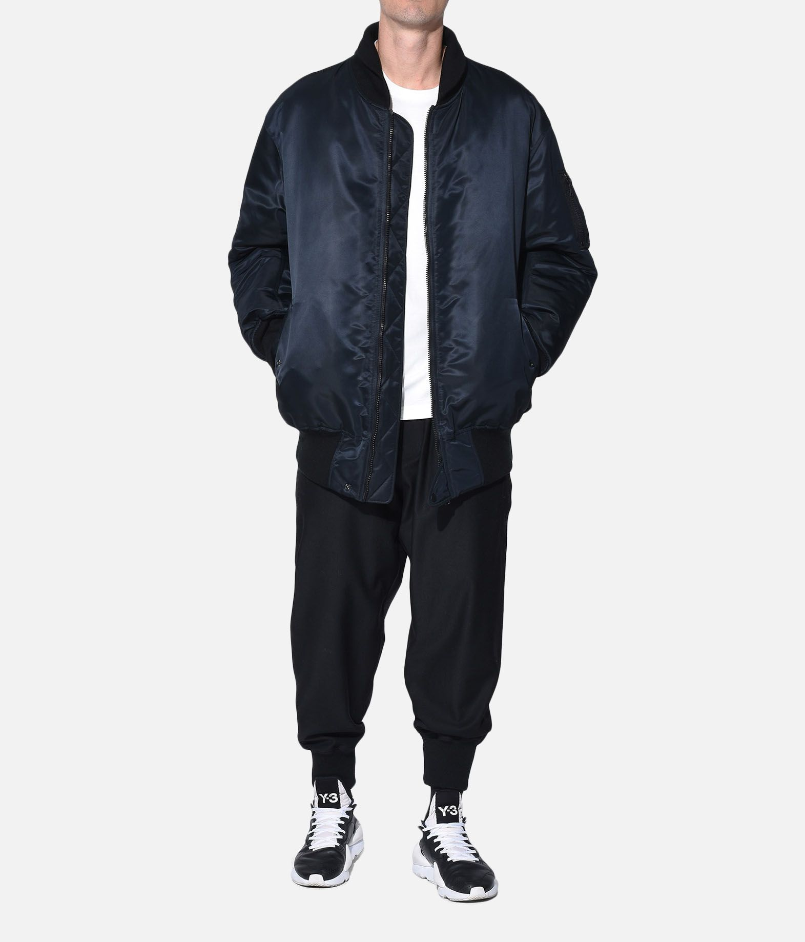 Y-3 Y-3 Oversize Reversible Bomber Jacket Mid-length jacket Man a