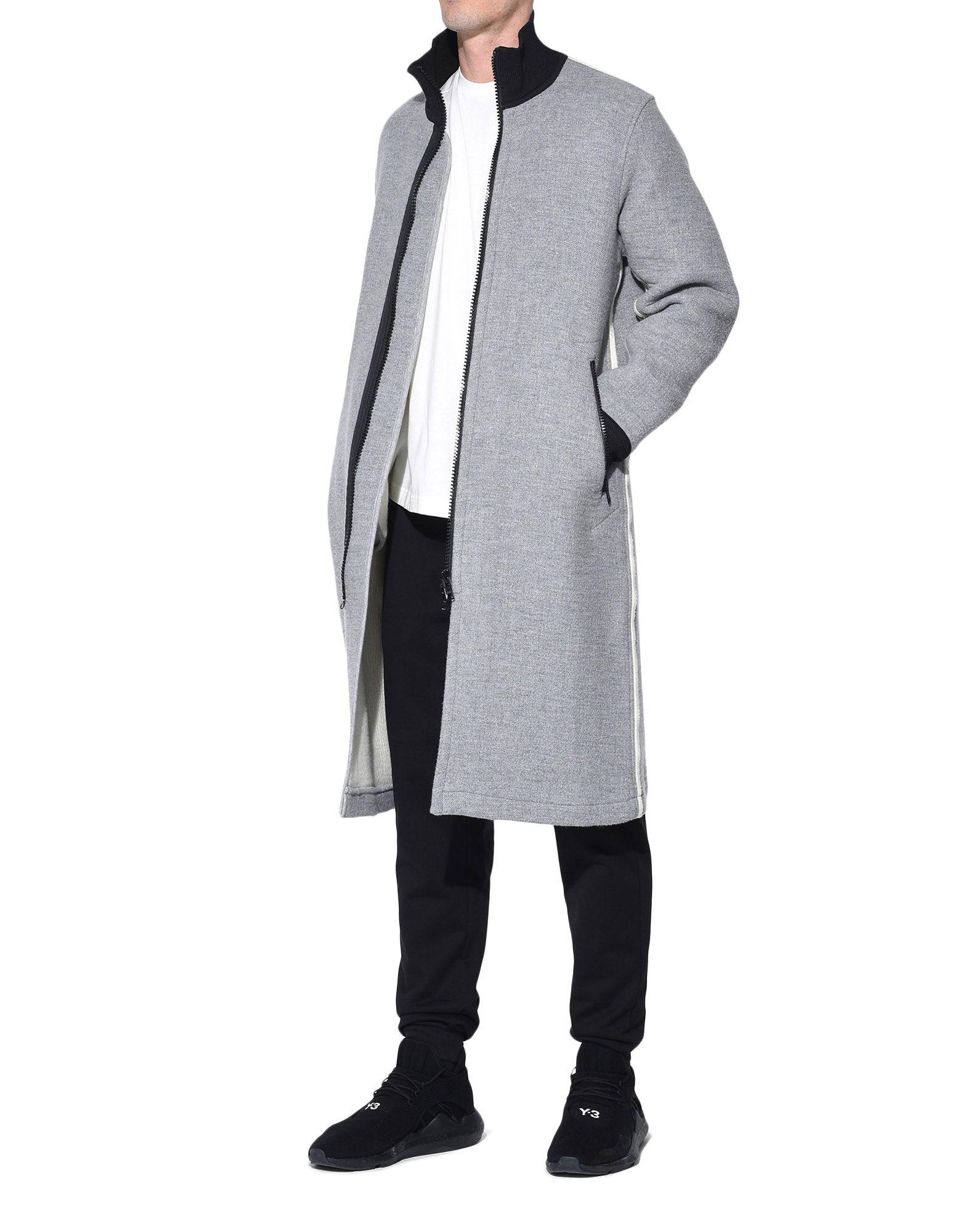 Y-3 Y-3 Spacer Wool Coat Coat Man a