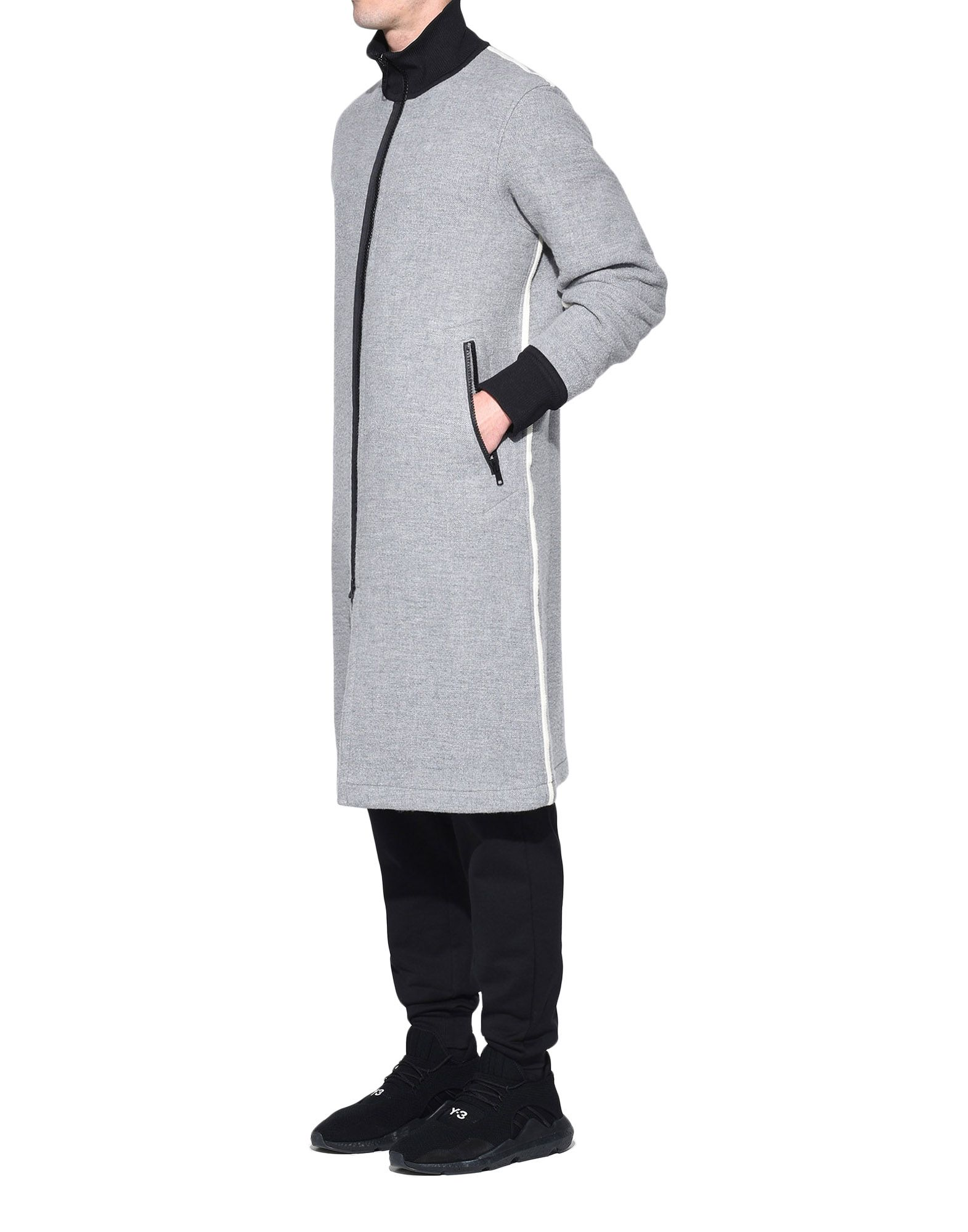 Y-3 Y-3 Spacer Wool Coat Coat Man e
