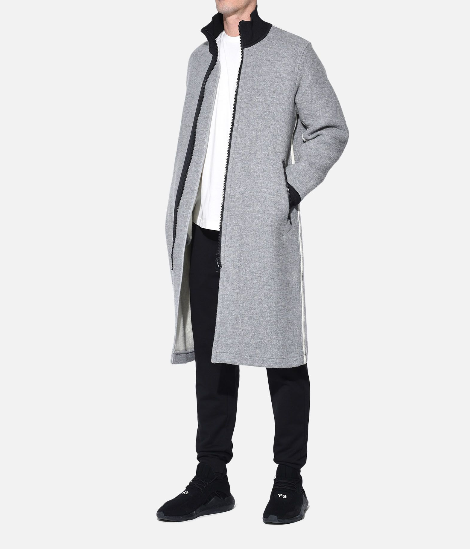 Y-3 Y-3 Spacer Wool Coat Coat Man a