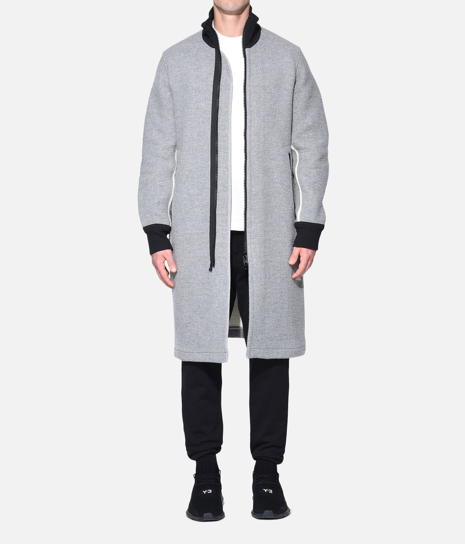Y-3 Y-3 Spacer Wool Coat Coat Man r