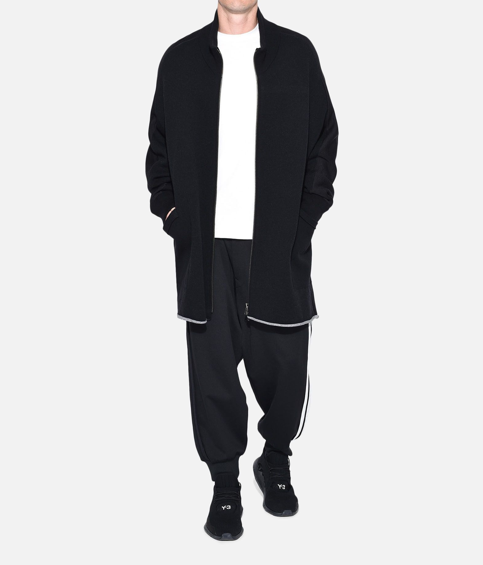 Y-3 Y-3 Knitted Stacked Logo Parka Blazer Man a