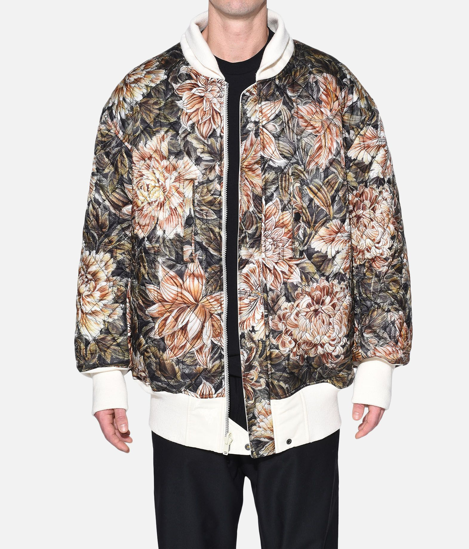 Y-3 Y-3 AOP Reversible Oversize Bomber Jacket Mid-length jacket Man r