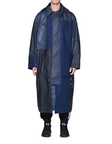 Y-3 Coat Man Y-3 Patchwork Long Coat r