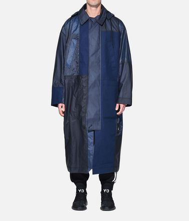 Y-3 Mantel Herren Y-3 Patchwork Long Coat r