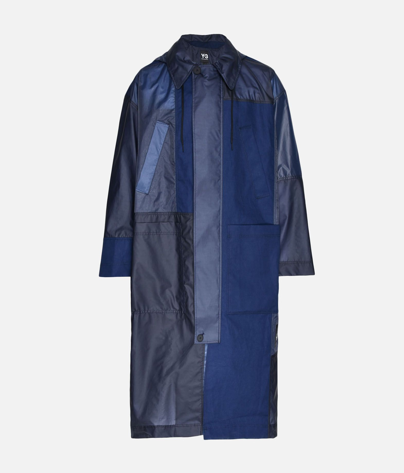 Y-3 Y-3 Patchwork Long Coat Cappotto Uomo f