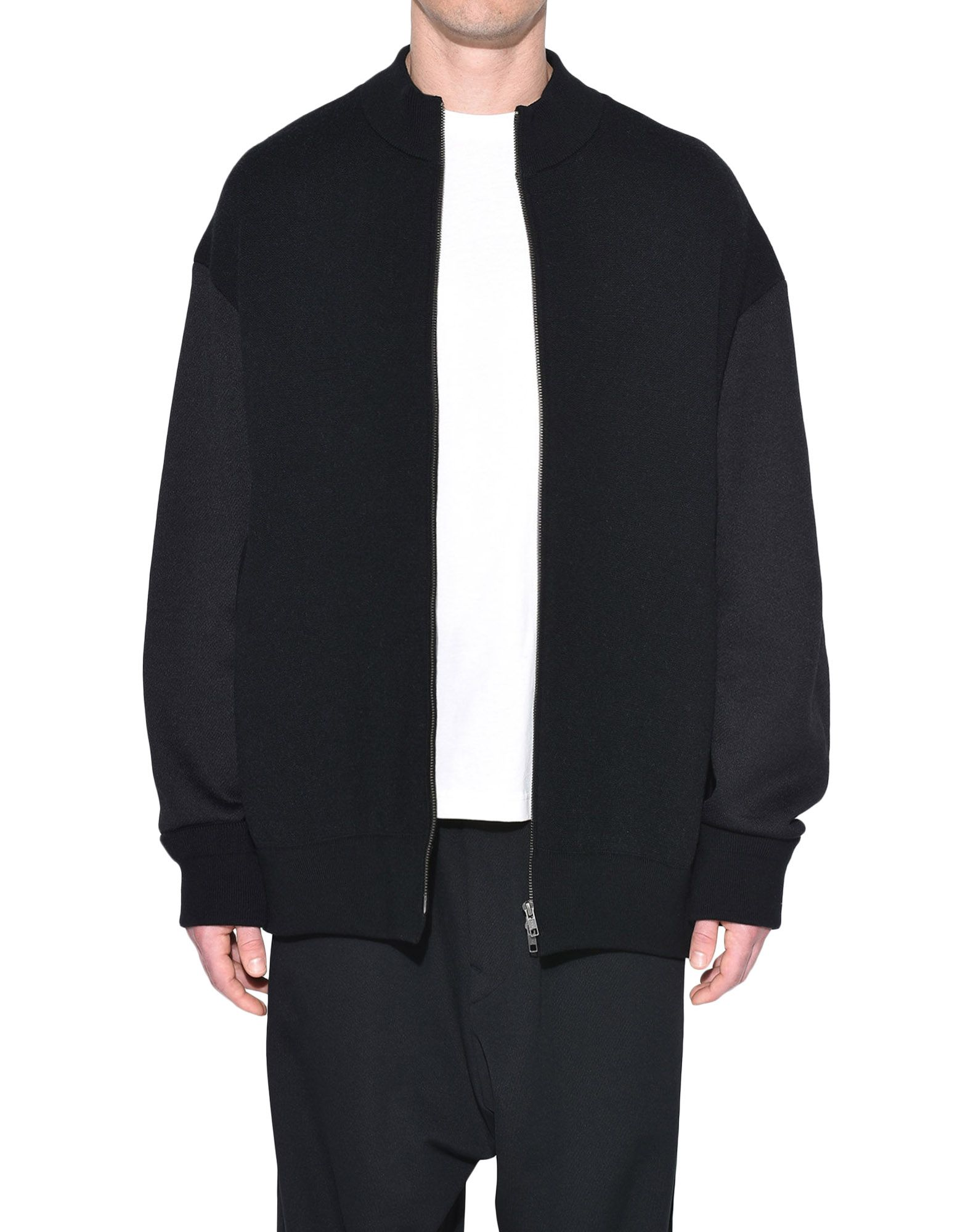 Y-3 Y-3 Knitted Stacked Logo Blouson Blazer Man r